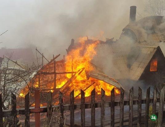 Zawoja: Ogień strawił dom