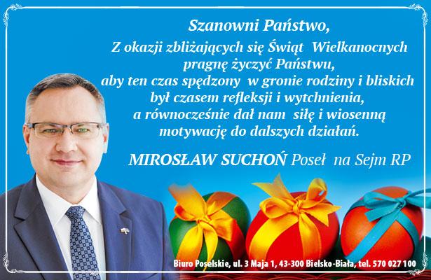 Mirosław Suchoń - życzenia