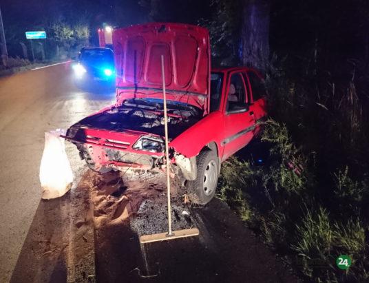 Pijani Ukraińcy rozbili auto
