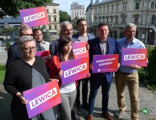 Lewica zaprezentowała kandydatów pod zamkiem Sułkowskich