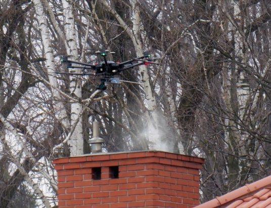 Antysmogowy dron nad Czechowicami