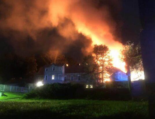 Pożar w firmie obuwniczej – foto