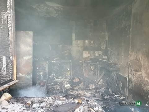 Międzybrodzie Żywieckie: Pożar butli z gazem w domu – ZDJĘCIA