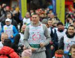 Cezary Trybański podczas 14. Biegu po Nowe Życie w 2019 r. w Wiśle. Fot. z arch. organizatorów