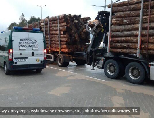 Importowane drewno na wagach ITD. Wpadka w Cieszynie Boguszowicach